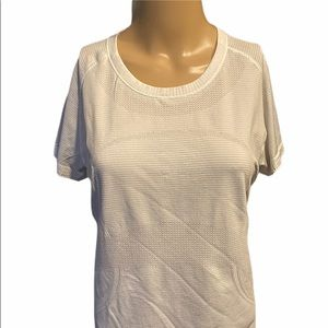 Lululemon white/brown tunic top size 12